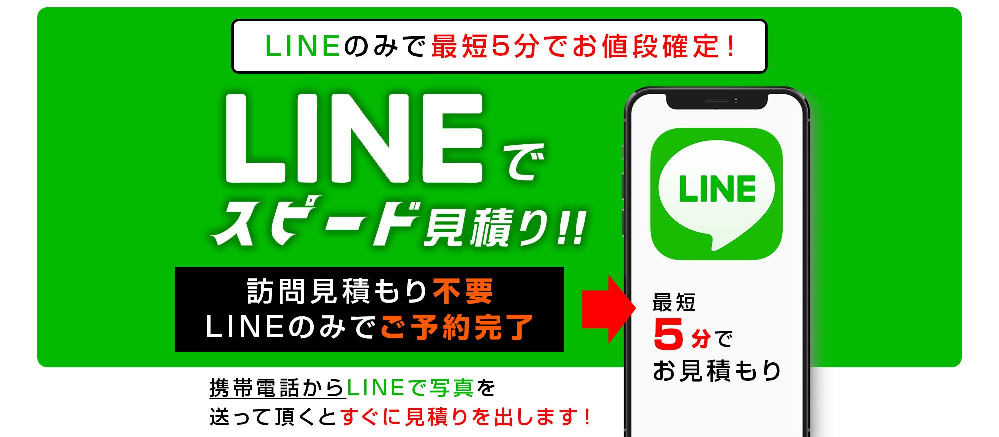 LINEでスピード見積り!!